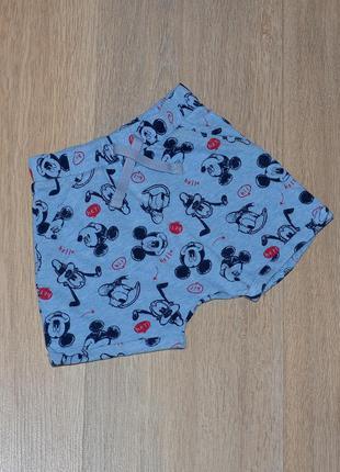 Шорты disney baby at george 6-9 мес. mickey mouse микки маус летние модные стильные