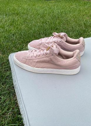 Puma велюровые кроссовки