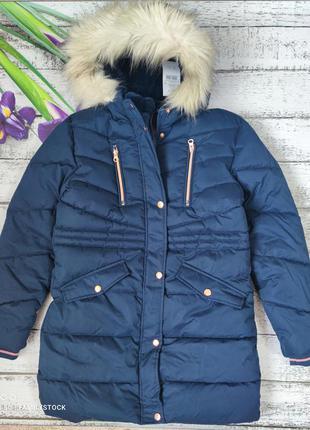 Очень теплое зимнее пальто на девочку george