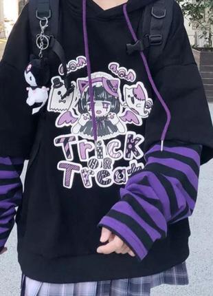 Женская футболка с длинными рукавами в стиле харадзюку