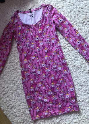 Яркое розовое платье sinsay новое
