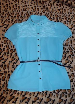Летняя мятная блузочка