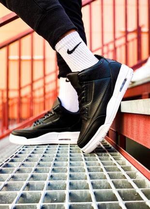 ❗sale❗женские кроссовки nike jordan 3 black черные черно-белые осень демисезон