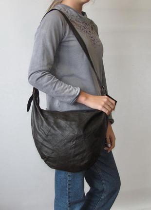 Большая легкая сумка bns, натуральная кожа