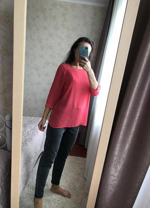 Шифоновая удлинённая блуза