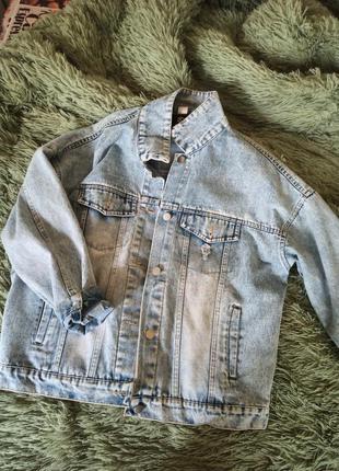 Джинсовый пиджак джинсовка новая оверсайз