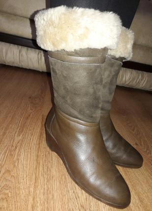 Зимние кожаные сапоги (0051)