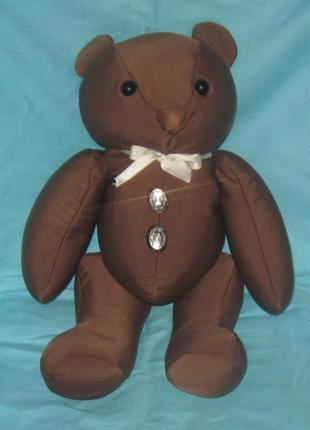 Игрушка мягкая, мишка коричневый. с наполнителем, гранулятом.