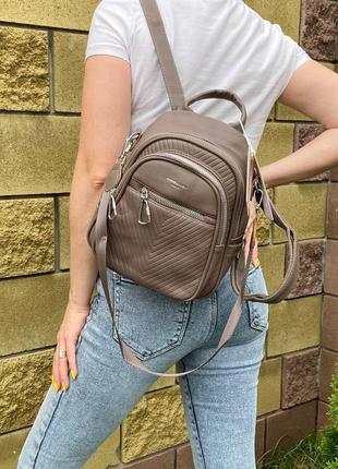 ❤️  рюкзак-сумка david mini на 2 отдела (хаки)