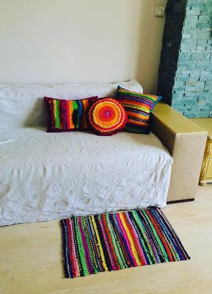 Тканий кольоровий килимок 48*78 см
