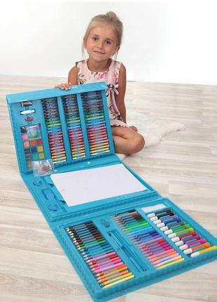 Набор для рисования с мольбертом в чемодане