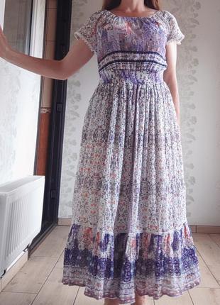 Хлопковое платье миди / сукня міді