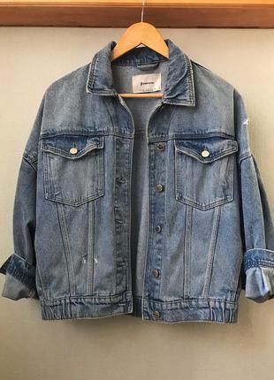 Джинсовая куртка классная джинсовка h&m mango asos zara