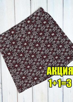 💥1+1=3 стильная фирменная короткая трикотажная юбка glamorous, размер 42 - 44