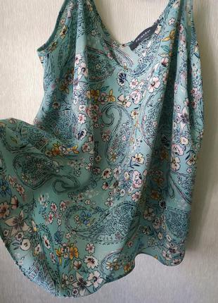 Нежная блузка мятного цвета😍 в цветочный принт primark