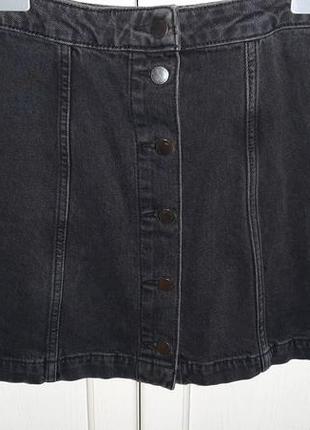 Джинсовая юбкана пуговицах