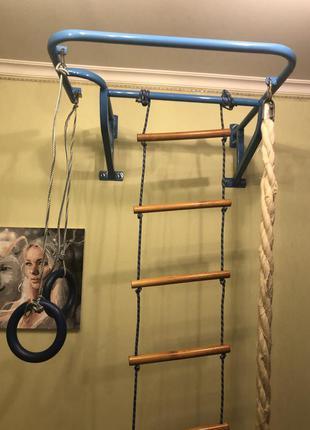 Детская турни-лестница, кольца, канат