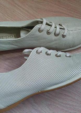 Белые туфли,кеды , лоферы pepol кожа