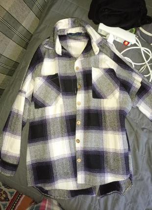 Тёплая рубашка оверзвайз