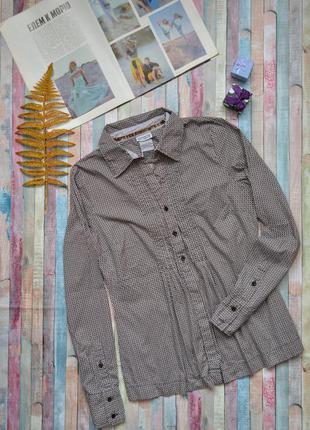 Классическая приталенная кофейная рубашка streetone