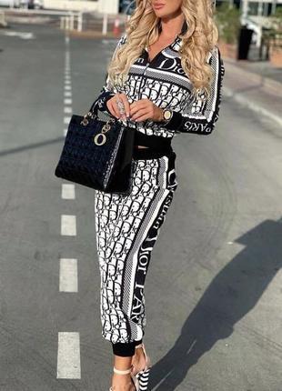 Модний жіночий костюм турція з принтом