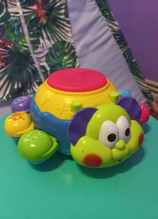 Музыкальная игрушка букашка , развивающая игрушка