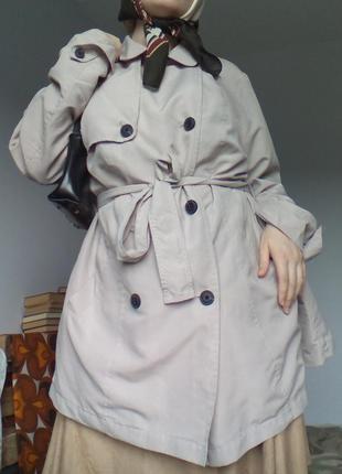 Элегантное полупальто британия тренч осень весна пальто