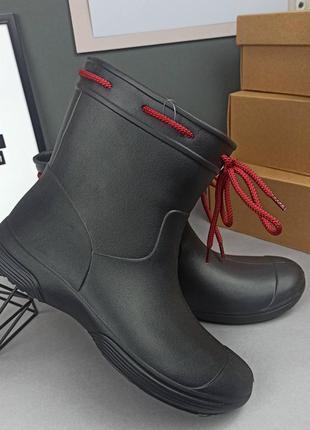 Чёрные сапоги для дождя, резиновые сапоги