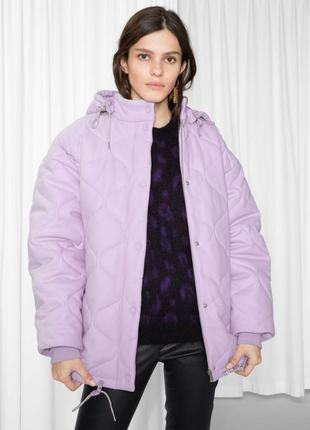 Куртка шерстяная лиловая