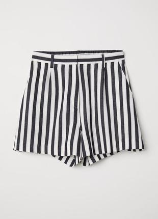 Полосатые шорты шорты в полоску шорты для дома прогулочные шорты пижамные шорты короткие шорты на резинке хлопковые шорты zara