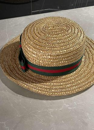 Шляпа соломенная фёдора