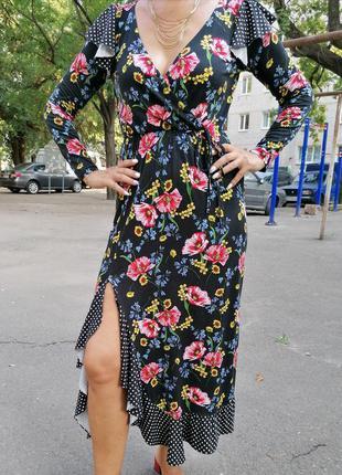 🌹яркое 💯натуральное фирменное платье asos