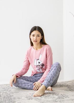 Піжама жіноча зі штанами - зайчик love