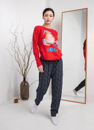 Жіноча піжама зі штанами - кіт need more sleep