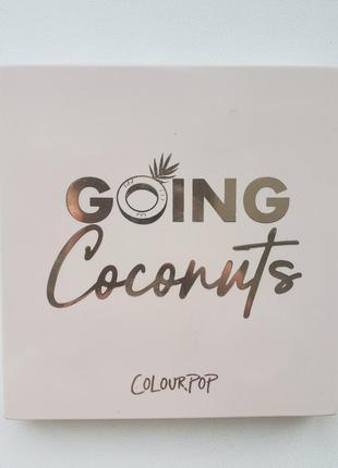 Colourpop going coconuts палетка теней