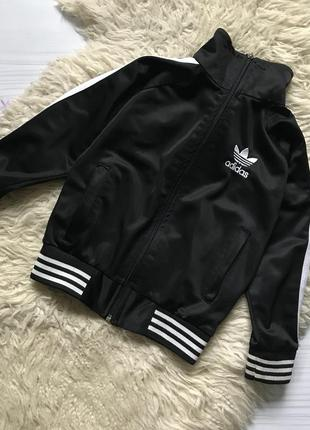 Adidas спортивная кофта на флисе на молнии