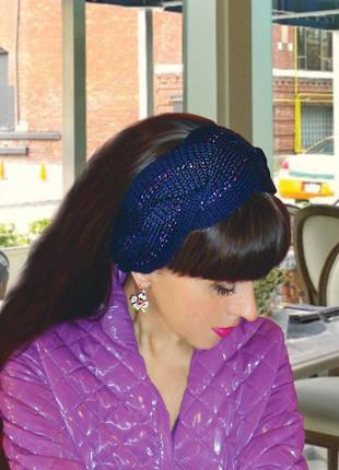 Вязаная повязка на голову - зимний тренд