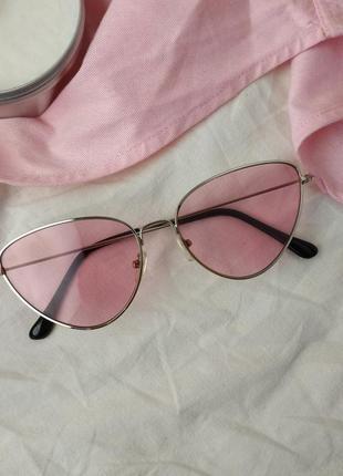 Окуляри рожеві / ретро / очки