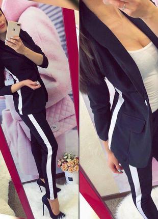 Костюм женский штаны жакет пиджак классика красивый женский костюм