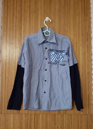 Кофта рубашка на мальчика 10-11 лет