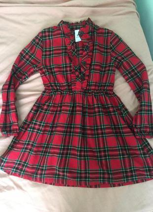 Оригинальное школьное платье, натуральное