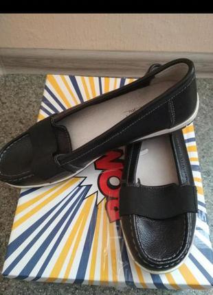 Кожаные туфли мокасины лоферы балетки