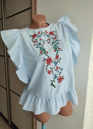 Блуза вышивка + бисер