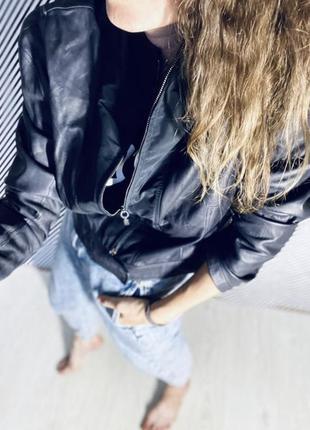 Кожаная куртка косуха натуральная кожа от armani оригинал