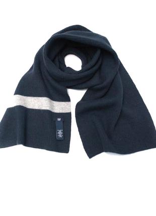 Тёплый стильный шарф gap 100 % шерсть мериноса