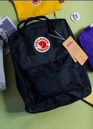 Рюкзак канкен классик, fjallraven kanken classic, черный, акция, подарок, школьный, шкільний портфель