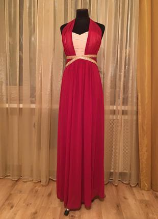 Платье вечернее фуксия