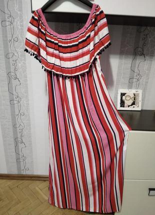 Пог 60 невероятное хлопковое платье с воланом 20