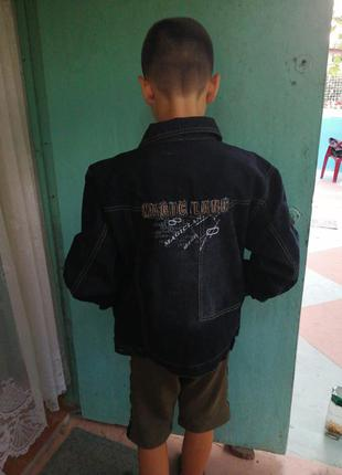 Пиджак джинсовый для мальчиков