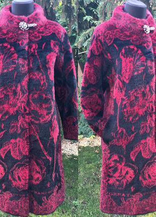 Шикарное пальто с шерстью альпаки отличное качество